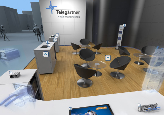 Virtueller Messestand Rundgang in 360 Grad Krone